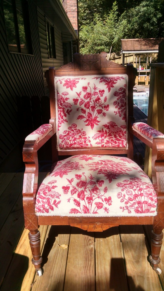 eastlake chair makeover before