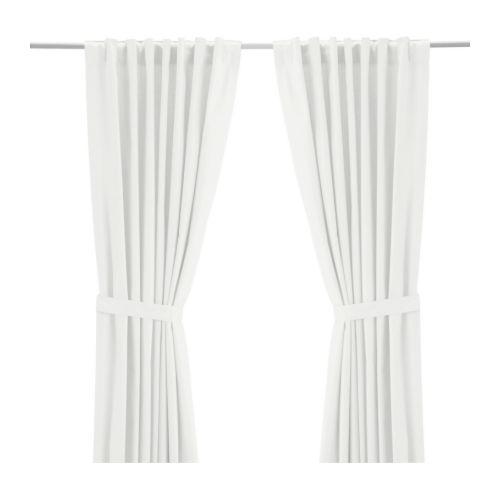 white ikea ritva curtain hack
