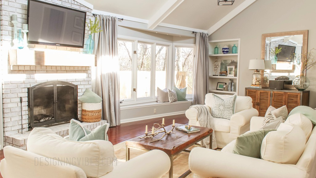 grey transitional living room