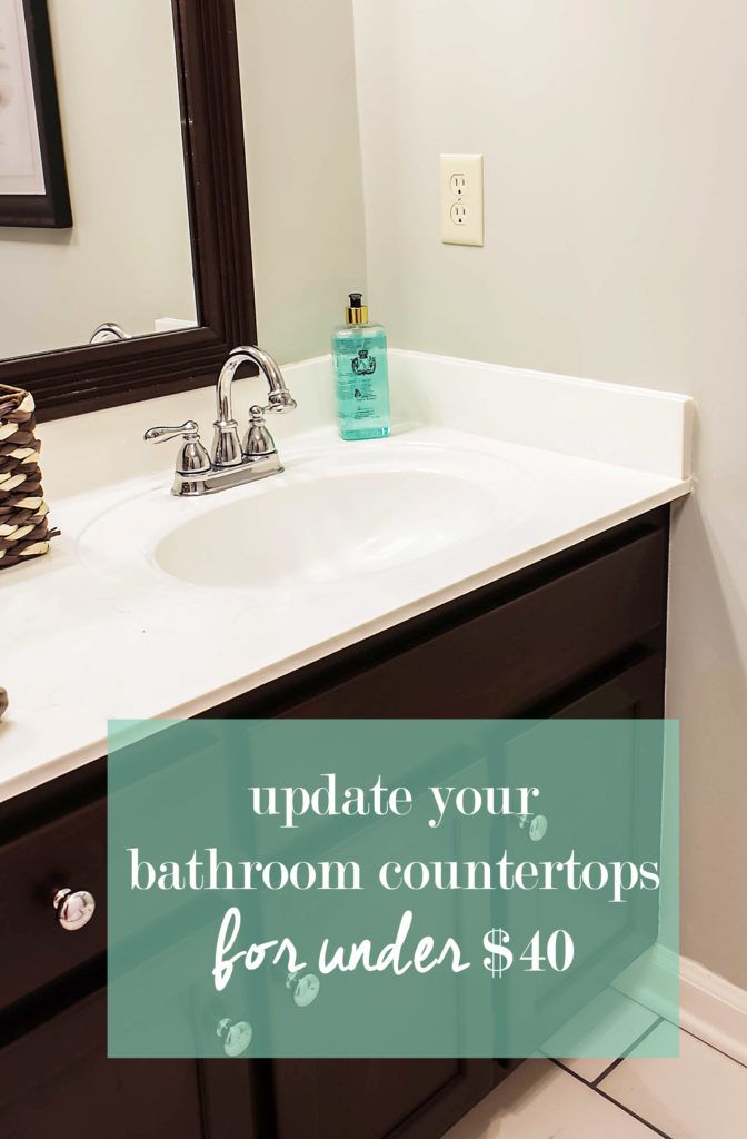 how to paint over cultured marble countertops