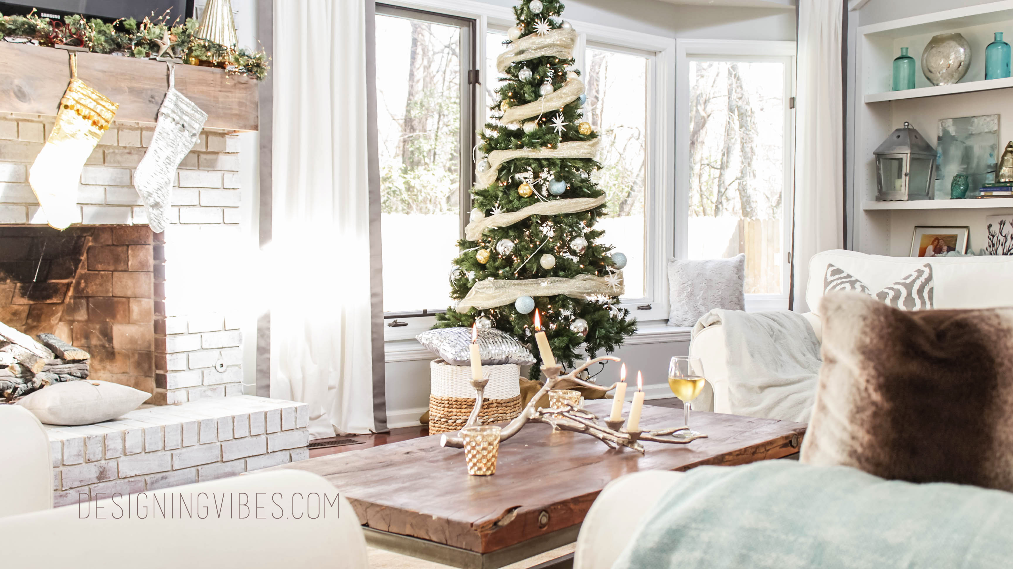 Rustic Glam Holiday Decor Home Tour Part 1
