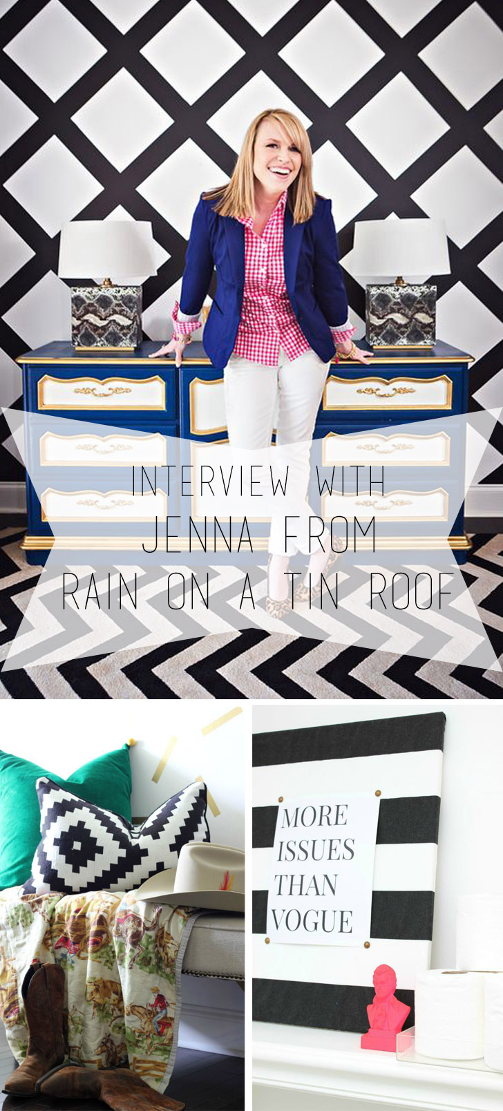 Q & A with Jenna from Rain on a Tin Roof