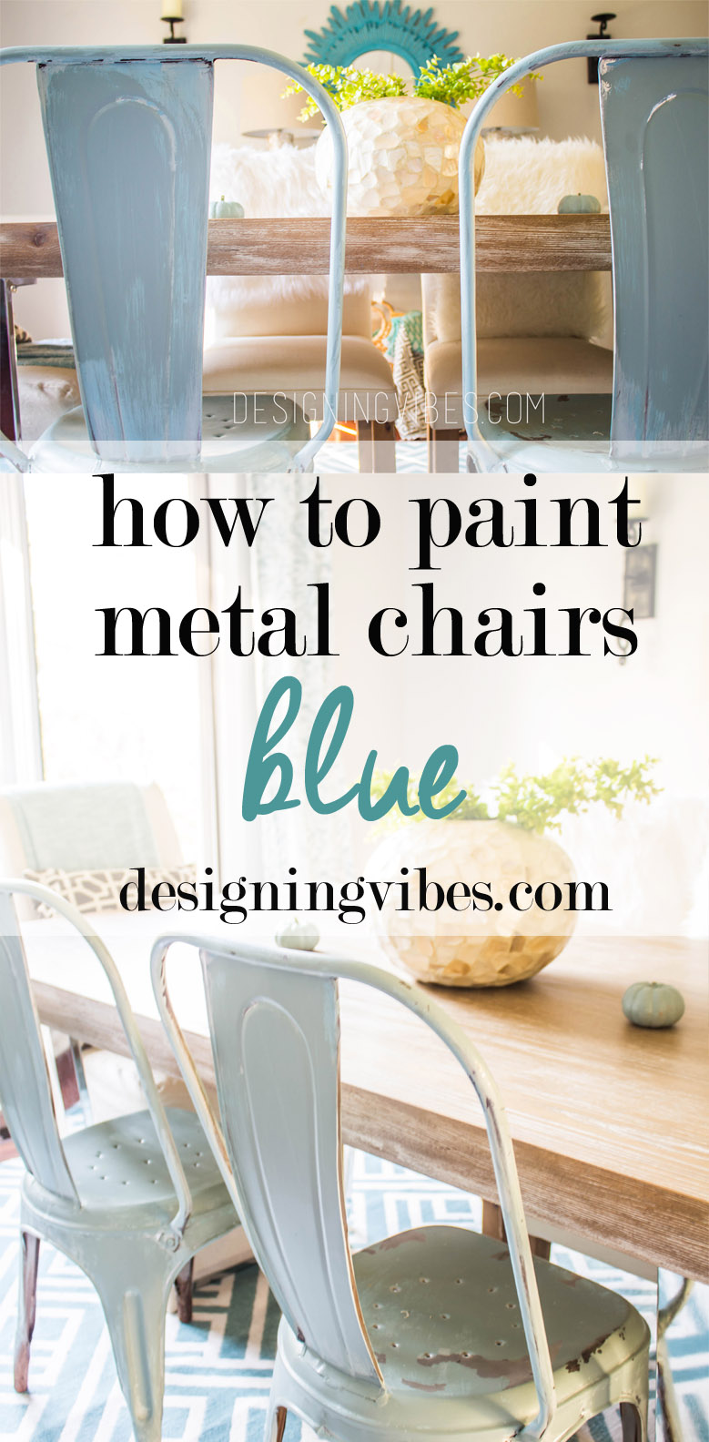 How To Paint Metal Chairs Blue Metal Chairs