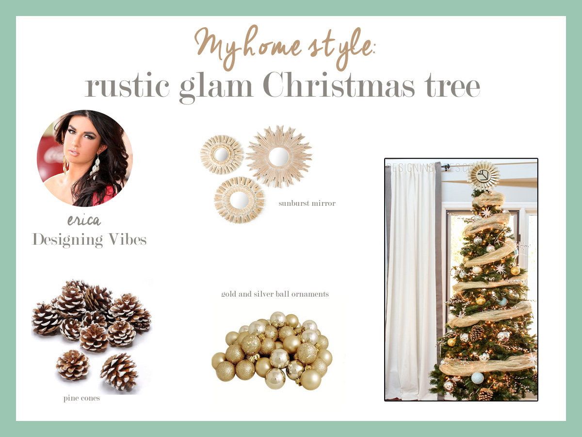 My Rustic Glam Christmas Tree – From Cheap and Fake to Fabulous