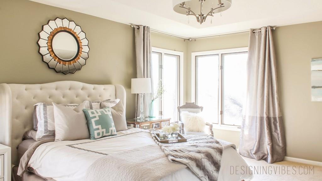 neutral elegant bedroom