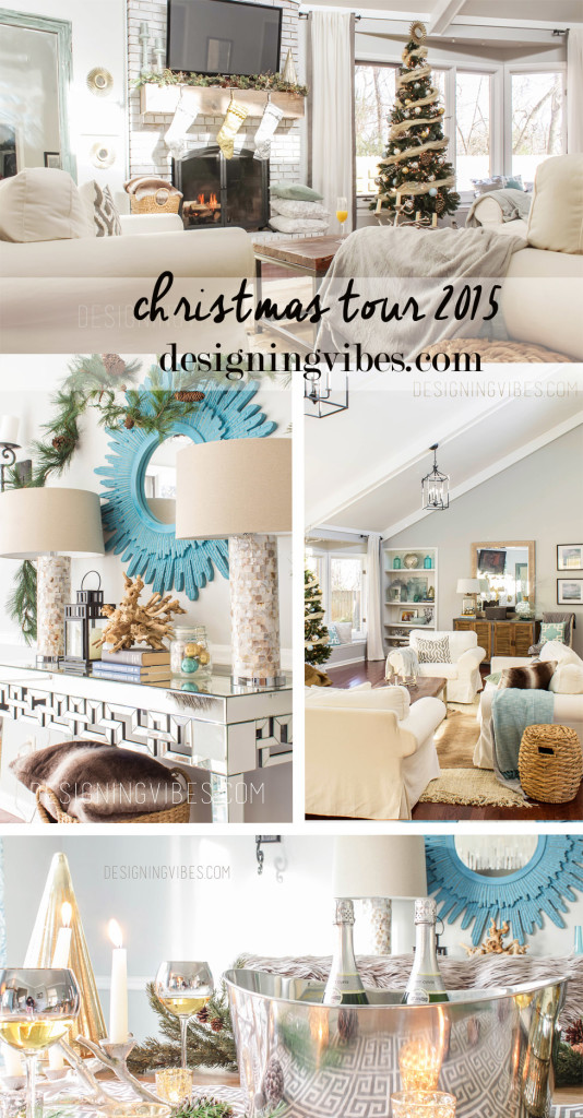 rustic glam Christmas decor