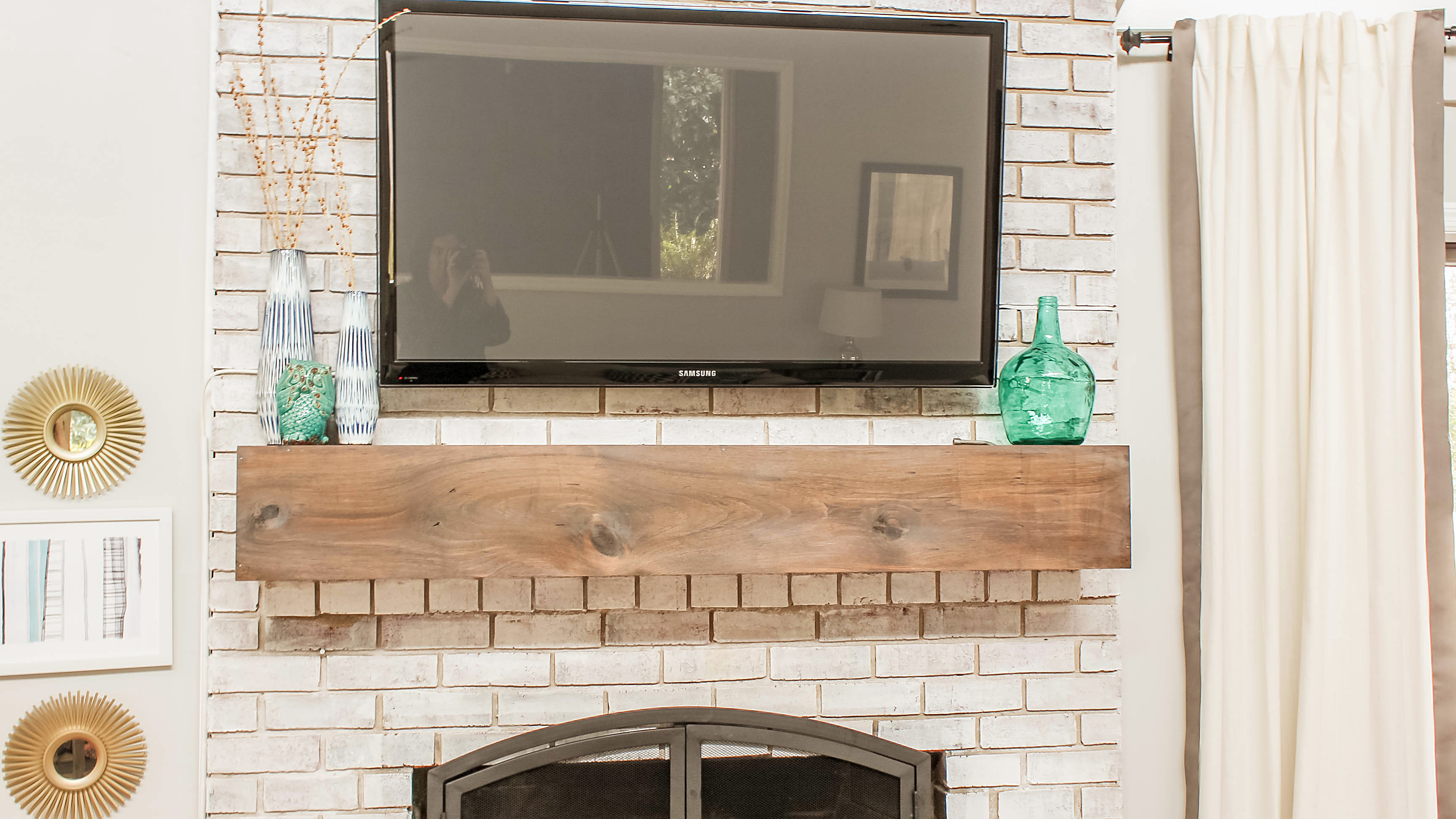 Mount A Tv Over Brick Fireplace, Can You Mount Tv To Brick Fireplace