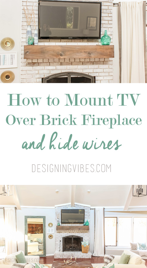 How to Mount a TV Over a Brick Fireplace and Hide the