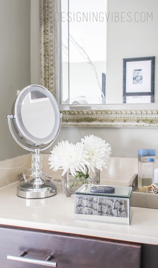 how to style a makeup vanity