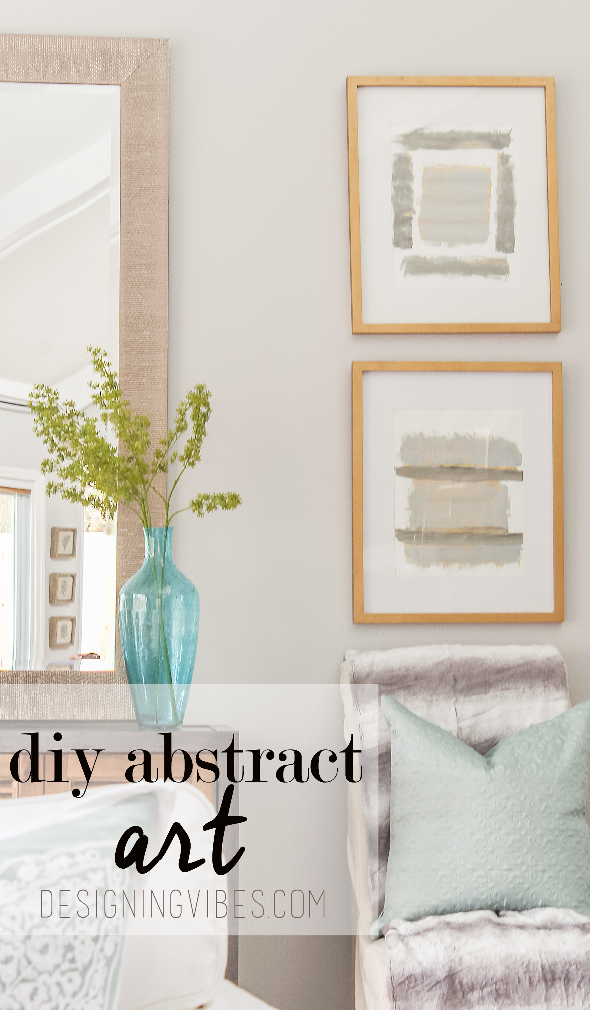 Diy grey and gold abstract art tutorial designing vibes for Grey and gold decor