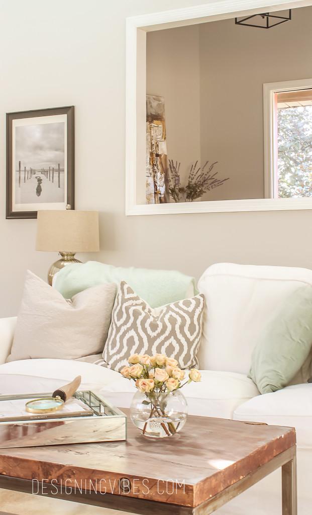 rustic glam spring living room decor
