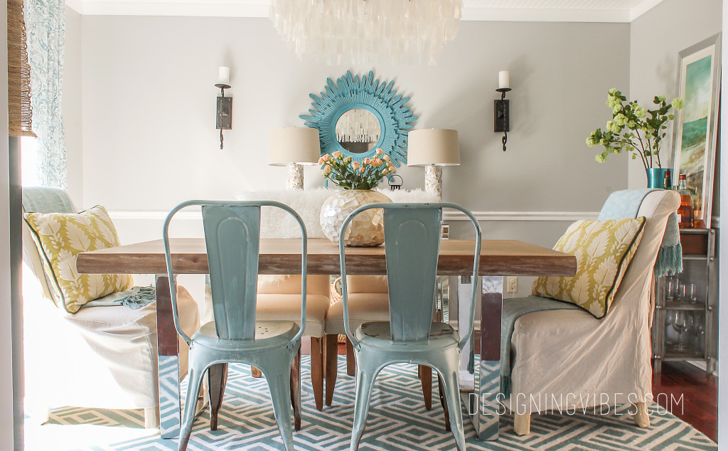 modern spring dining room decor