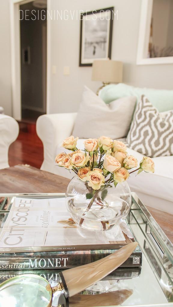 rustic glam spring decor