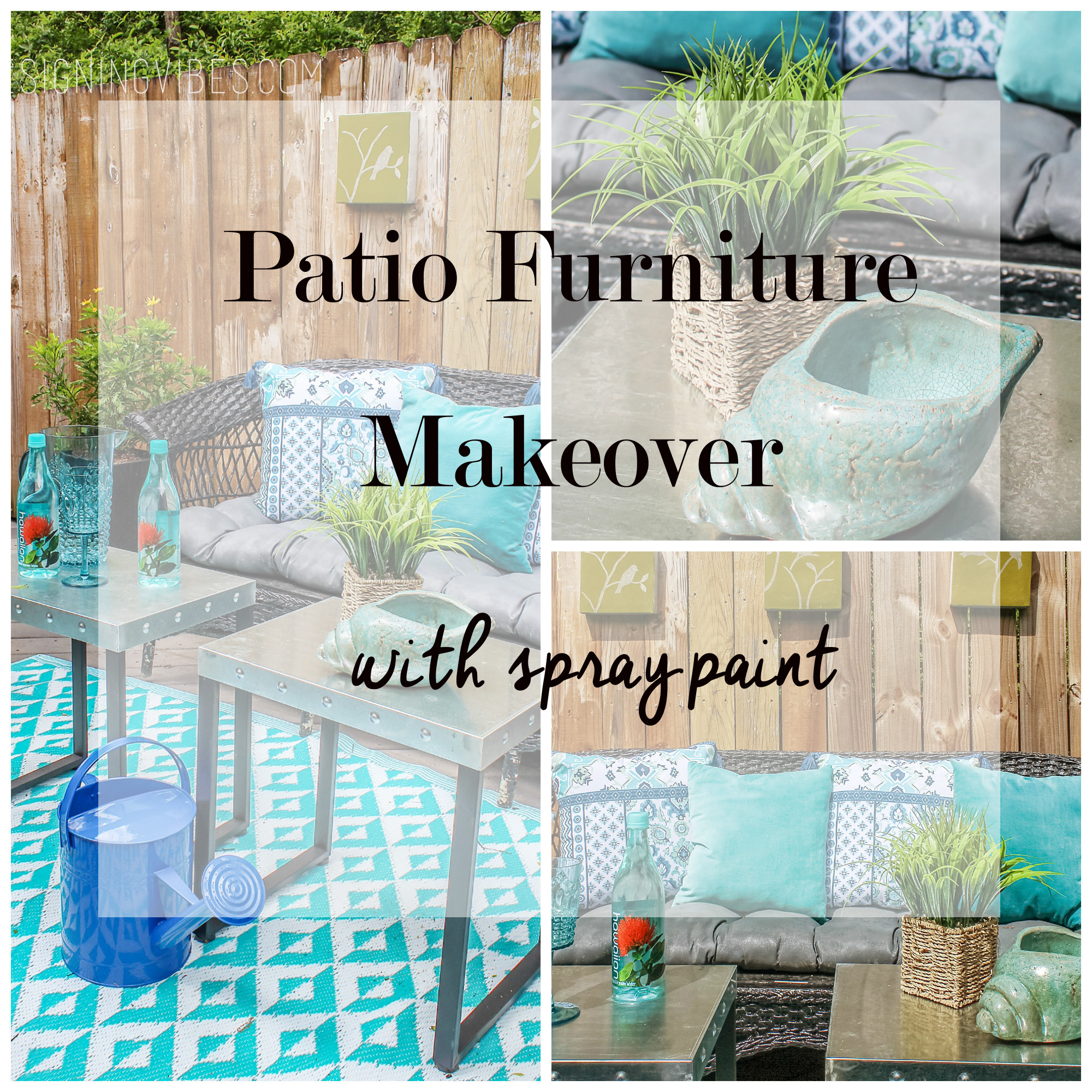 Spray Paint Fixes Everything   DIY Patio Furniture Makeover   Designing  Vibes   Interior Design And Home Improvement DIY