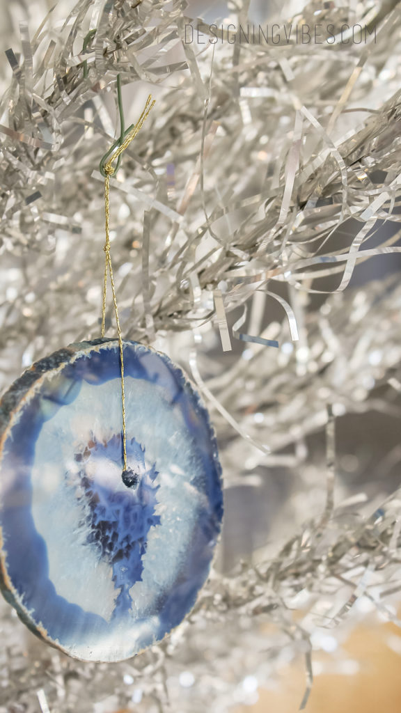 diy agate christmas ornament