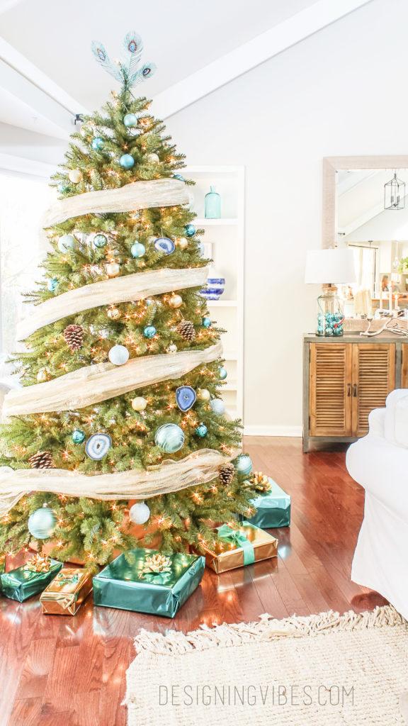 agate christmas tree ornament diy
