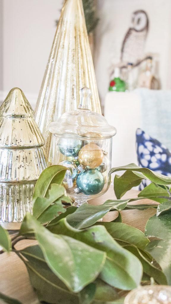 blue glam christmas decor