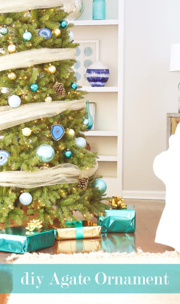 diy agate ornament