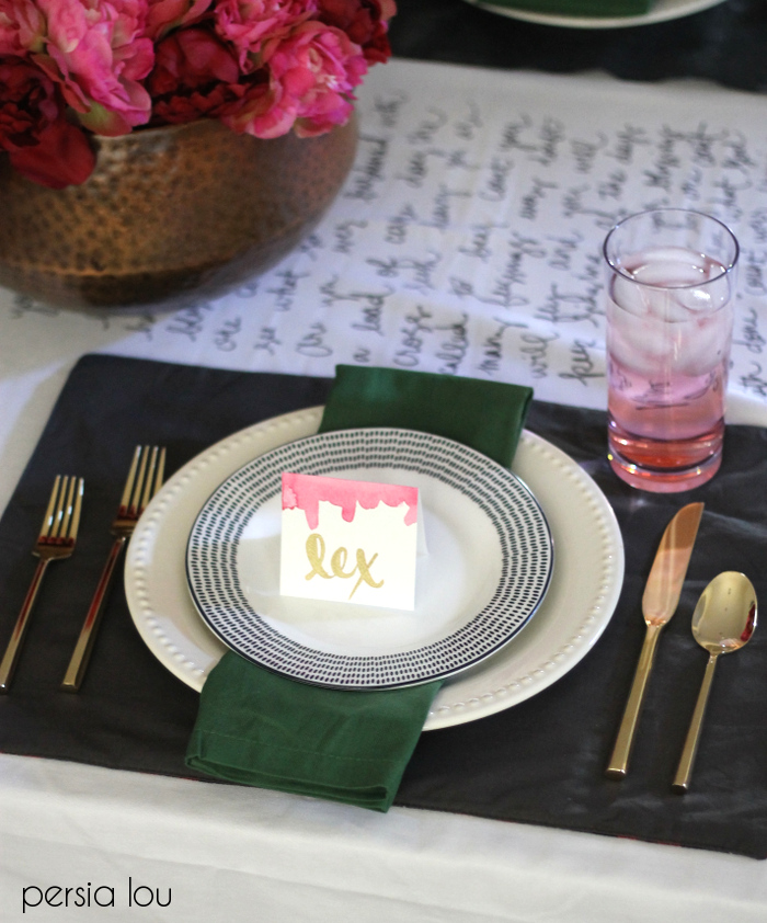 modern glam thanksgiving tablescape