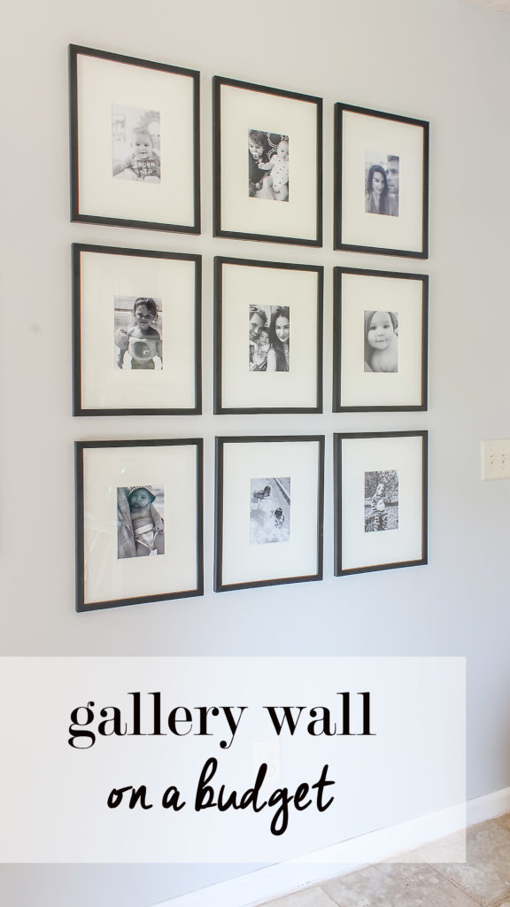 gallery wall on a budget