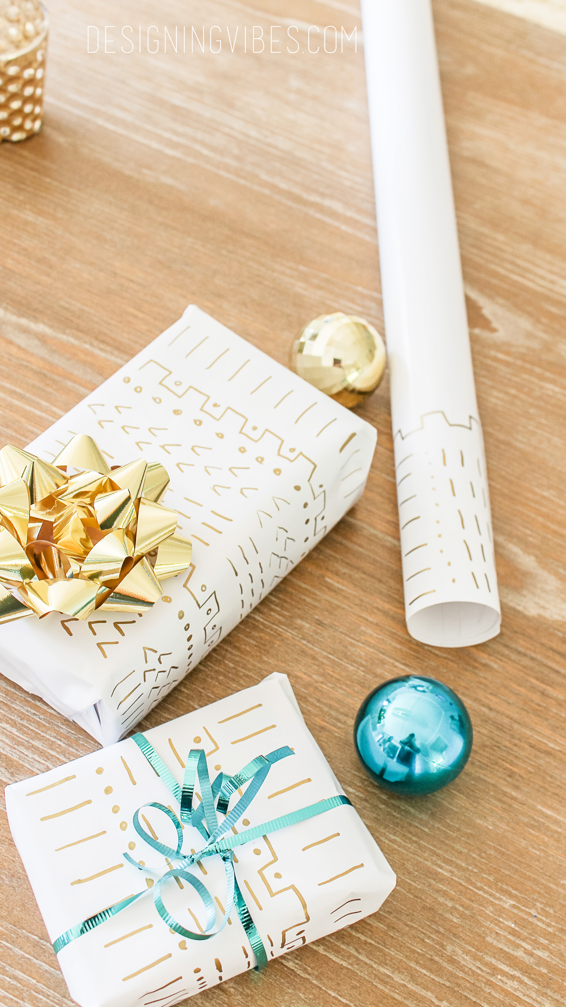Mud cloth wrapping paper diy tutorial christmas crafts for Christmas craft wrapping paper
