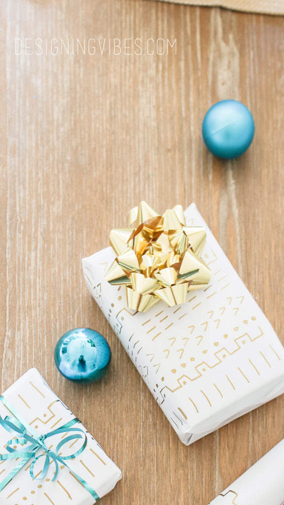 mudcloth diy wrapping paper
