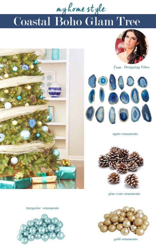 my coastal boho glam christmas tree