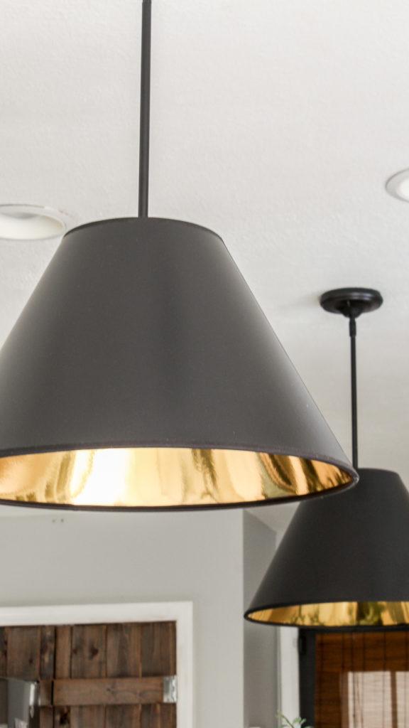 diy cone light pendant