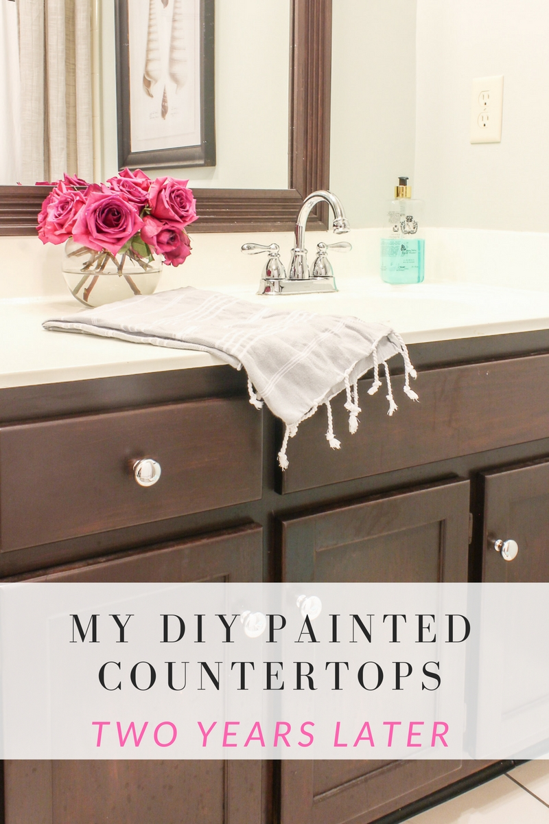 My Diy Painted Countertops A Review 2 Years Later