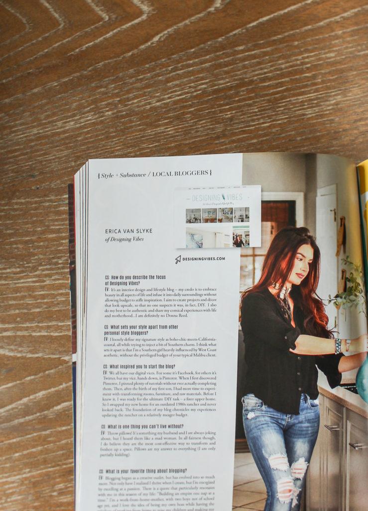 designing vibes magazine feature