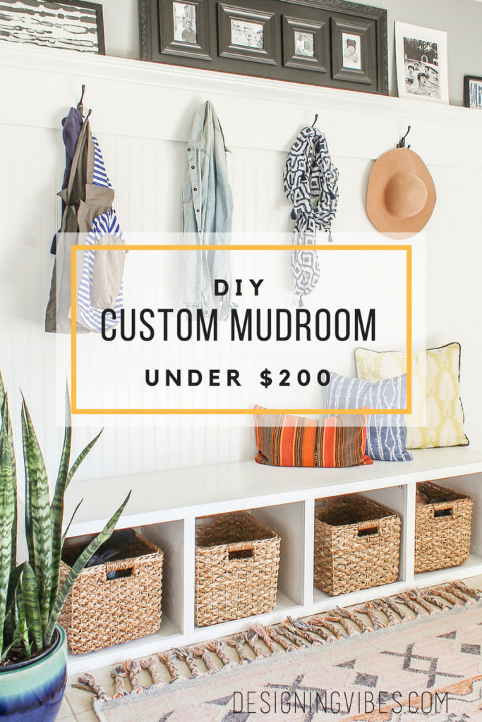 diy custom mudroom under $200 tutorial