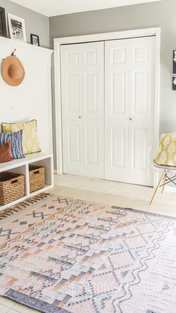 boho modern mudroom ideas