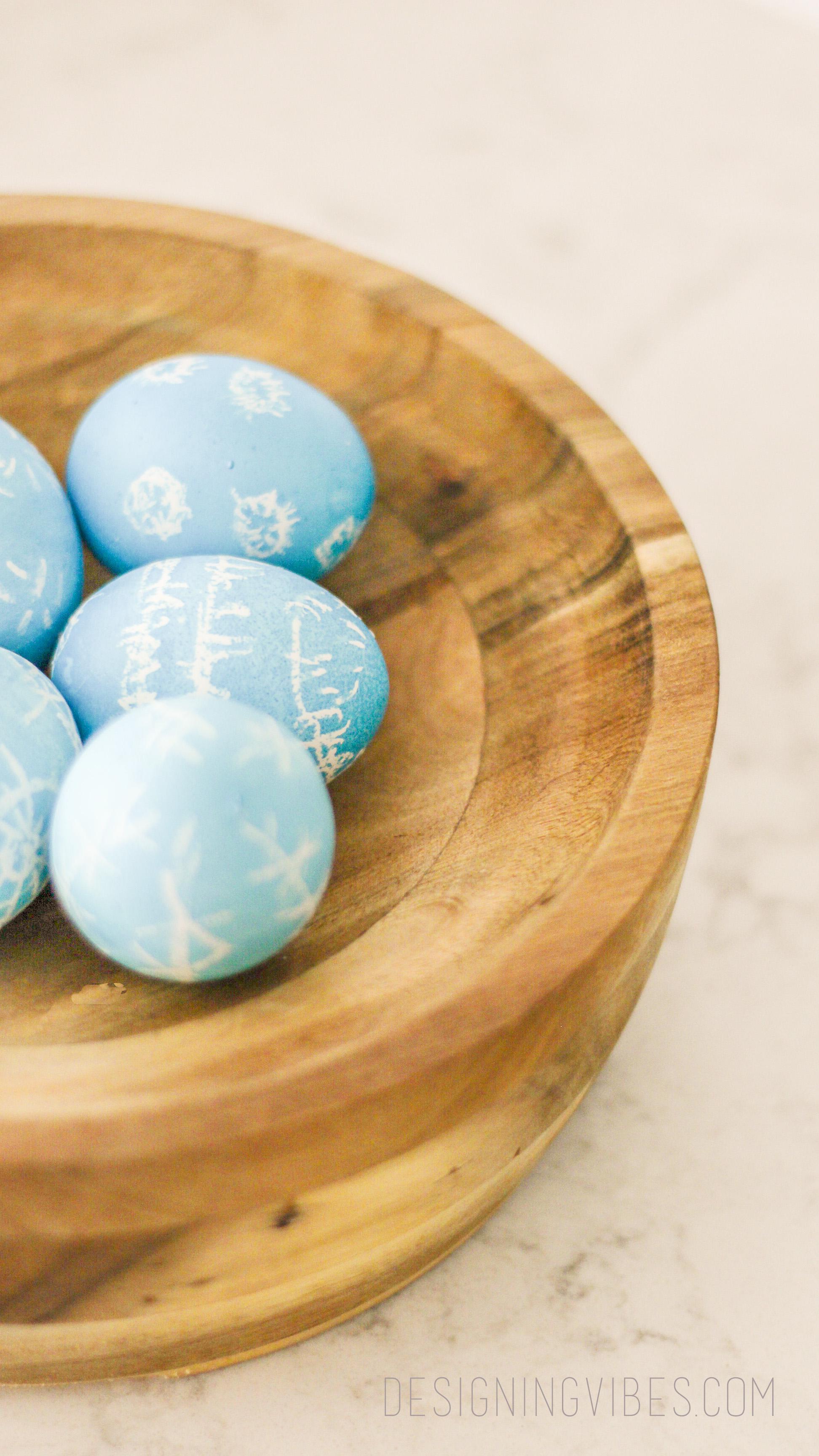 diy shibori easter eggs