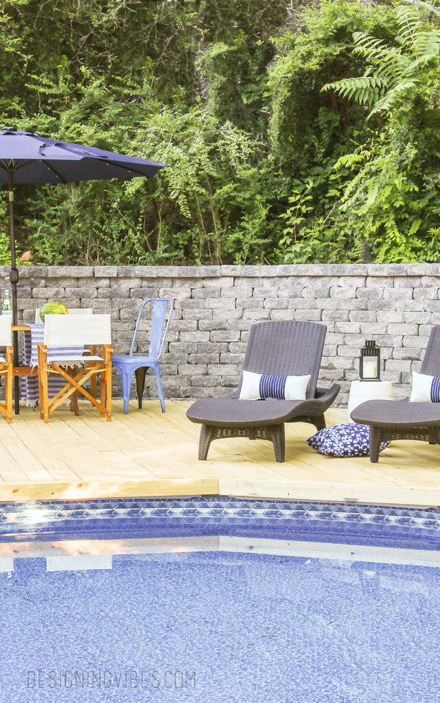 how to make an above ground pool look inground