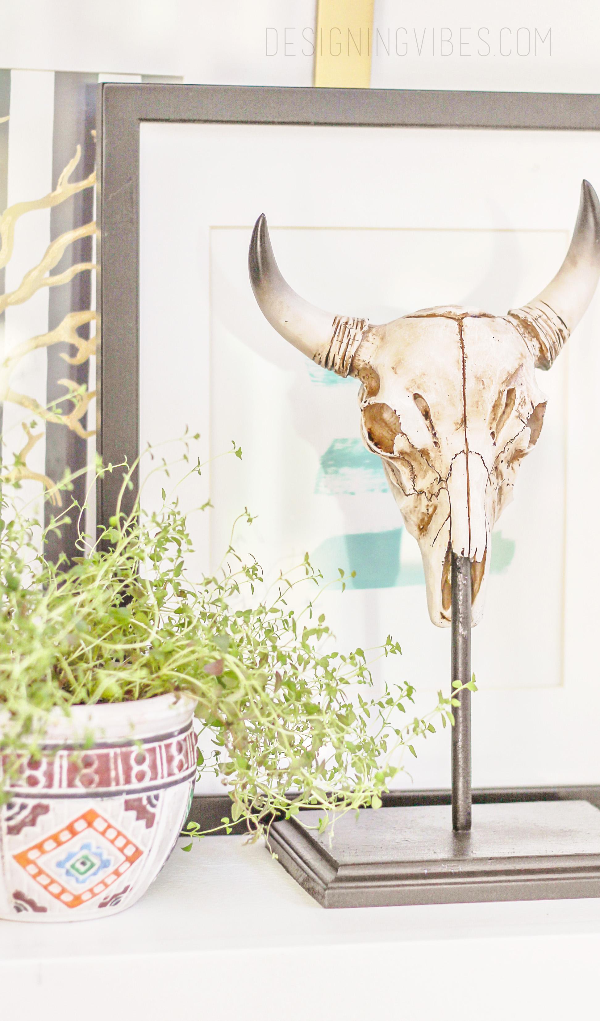 diy cow skull sculpture