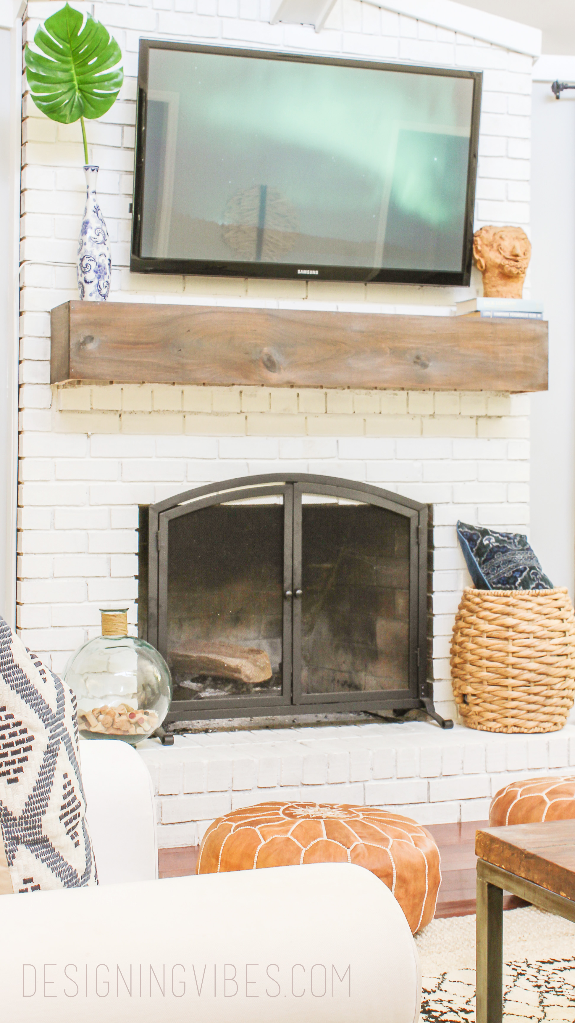 How to Makeover Your Fireplace on the Cheap