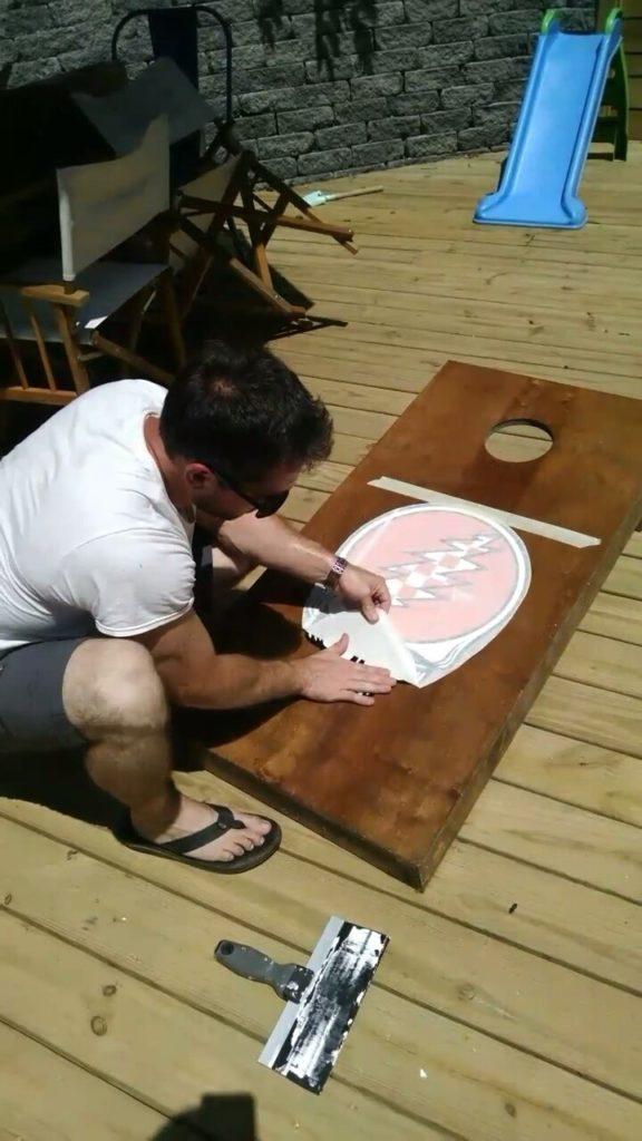 diy grateful dead cornhole board