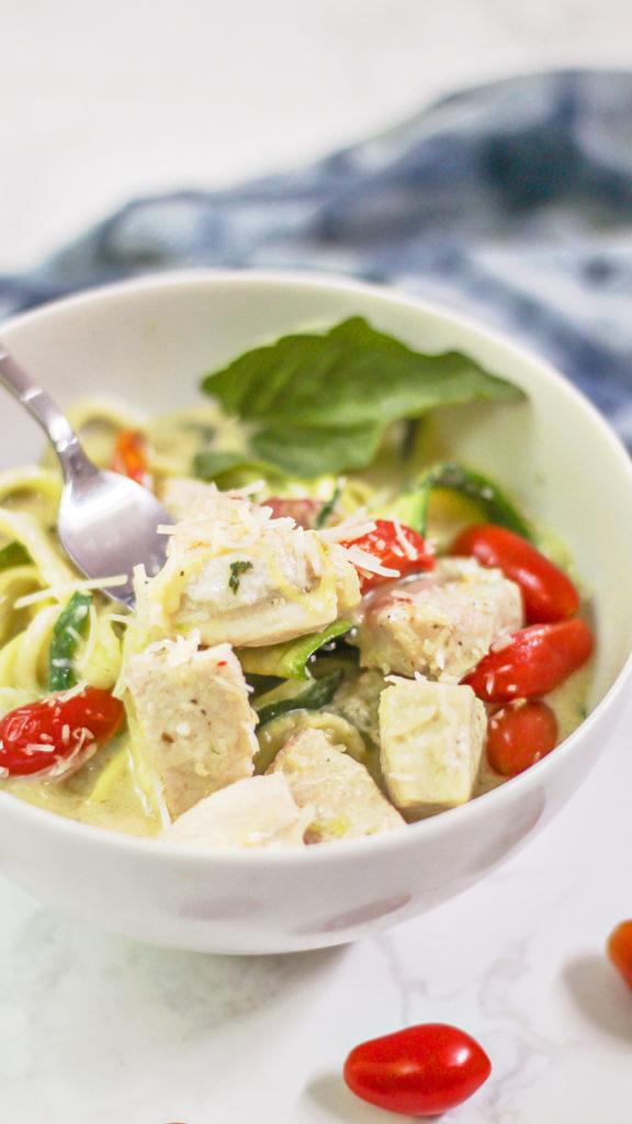 low carb chicken pasta recipe
