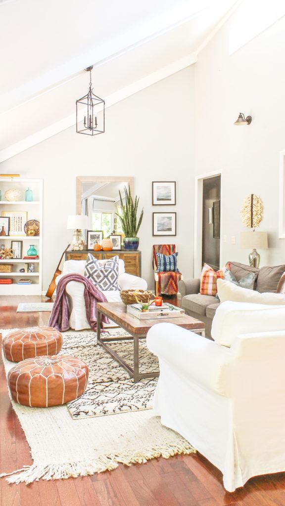 Boho Modern Living Room: Boho Chic Fall Home Tour And Decor Tips