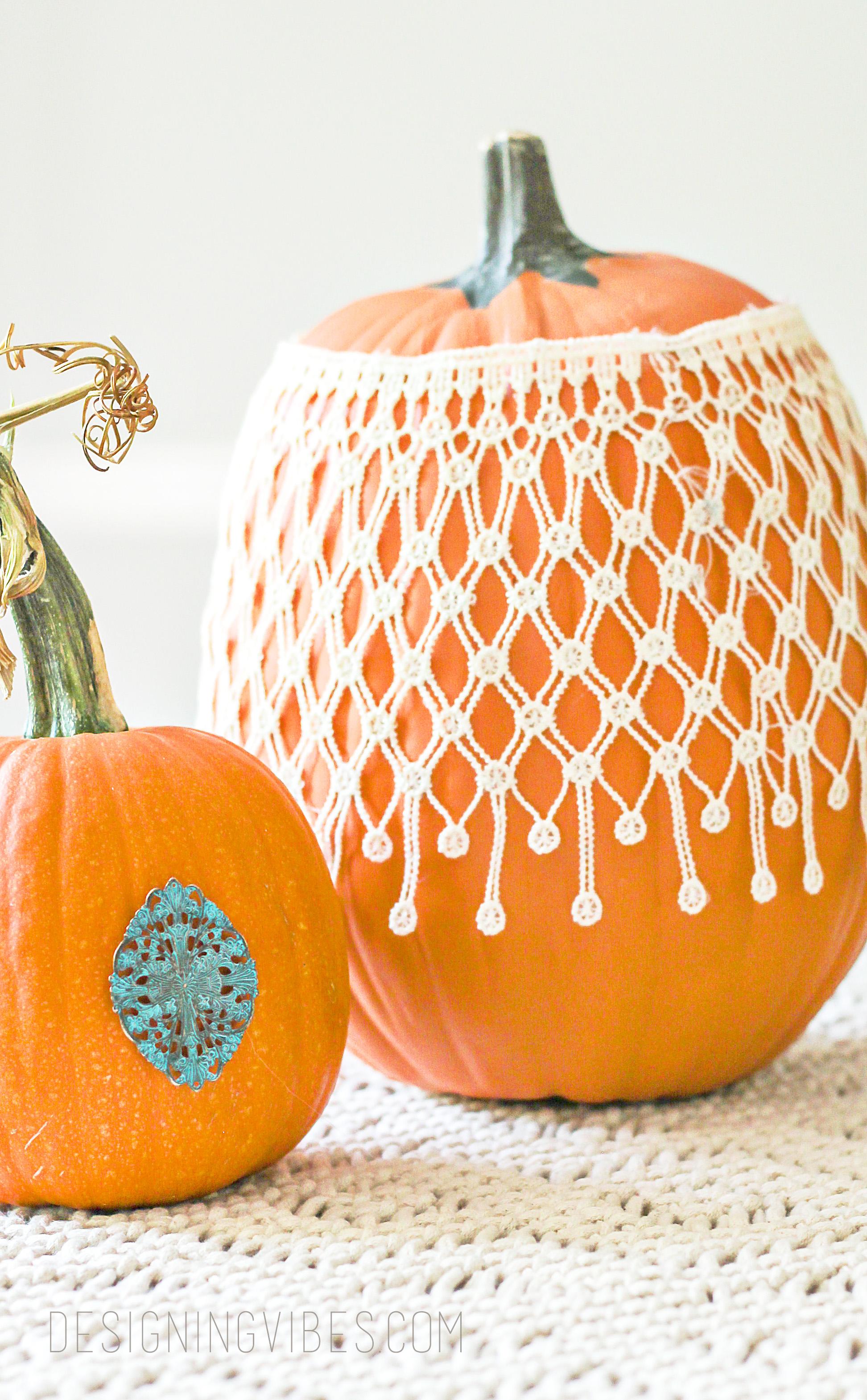diy boho chic fall pumpkins decor