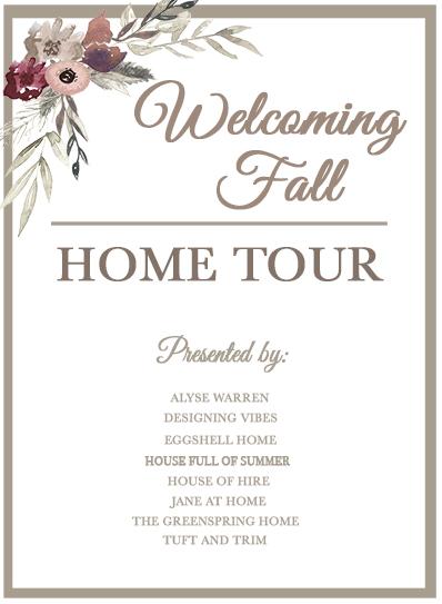 fall home tour decor