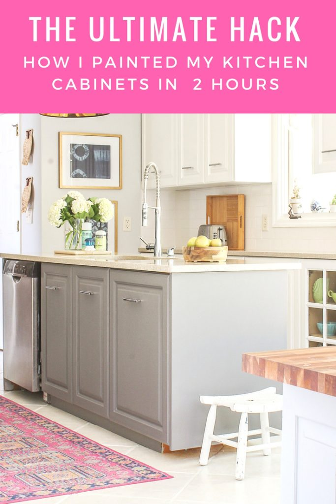 the easiest and fastest way to paint kitchen cabinets