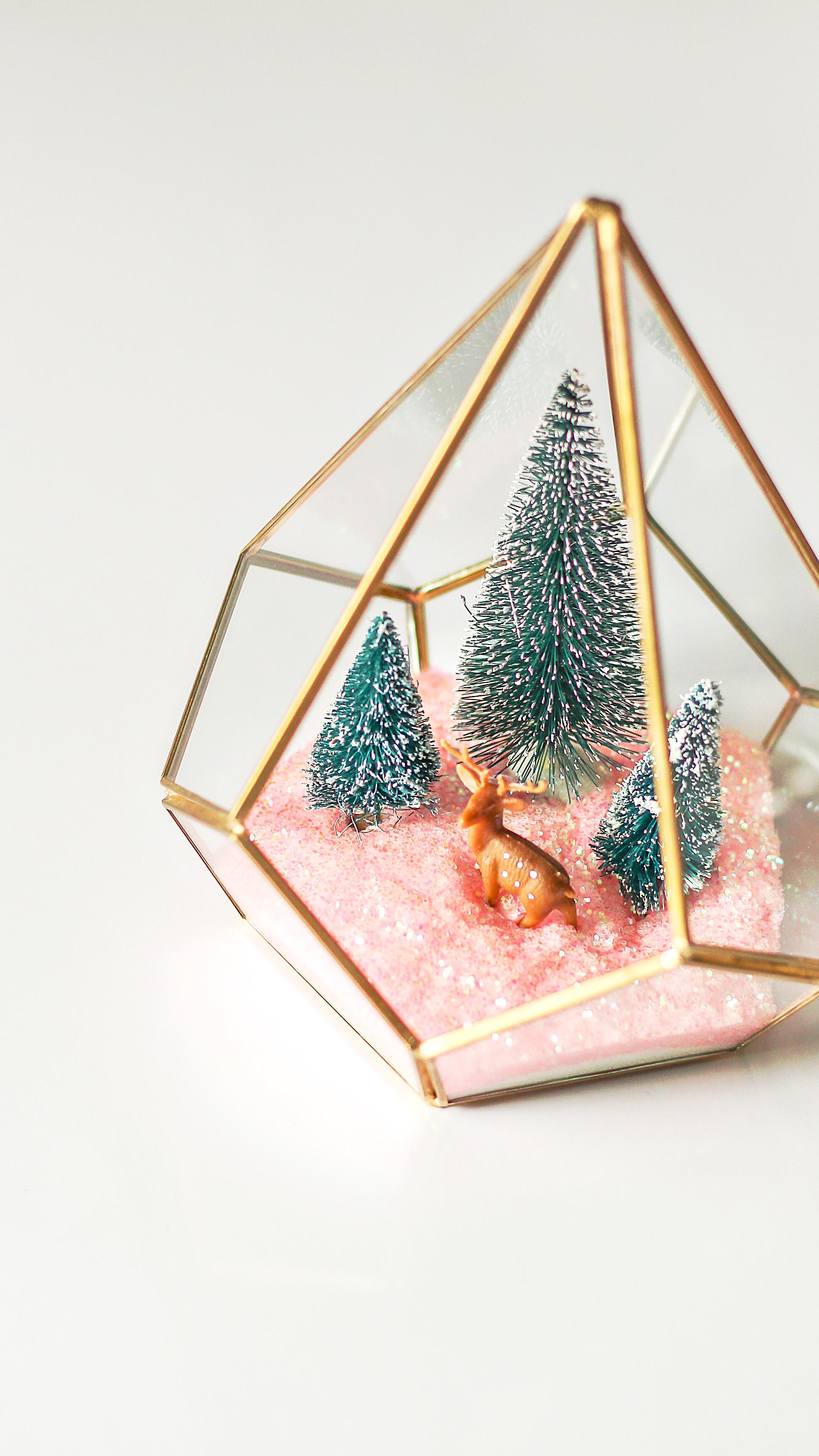 Modern Christmas Terrarium Diy Easy Christmas Craft Ideas