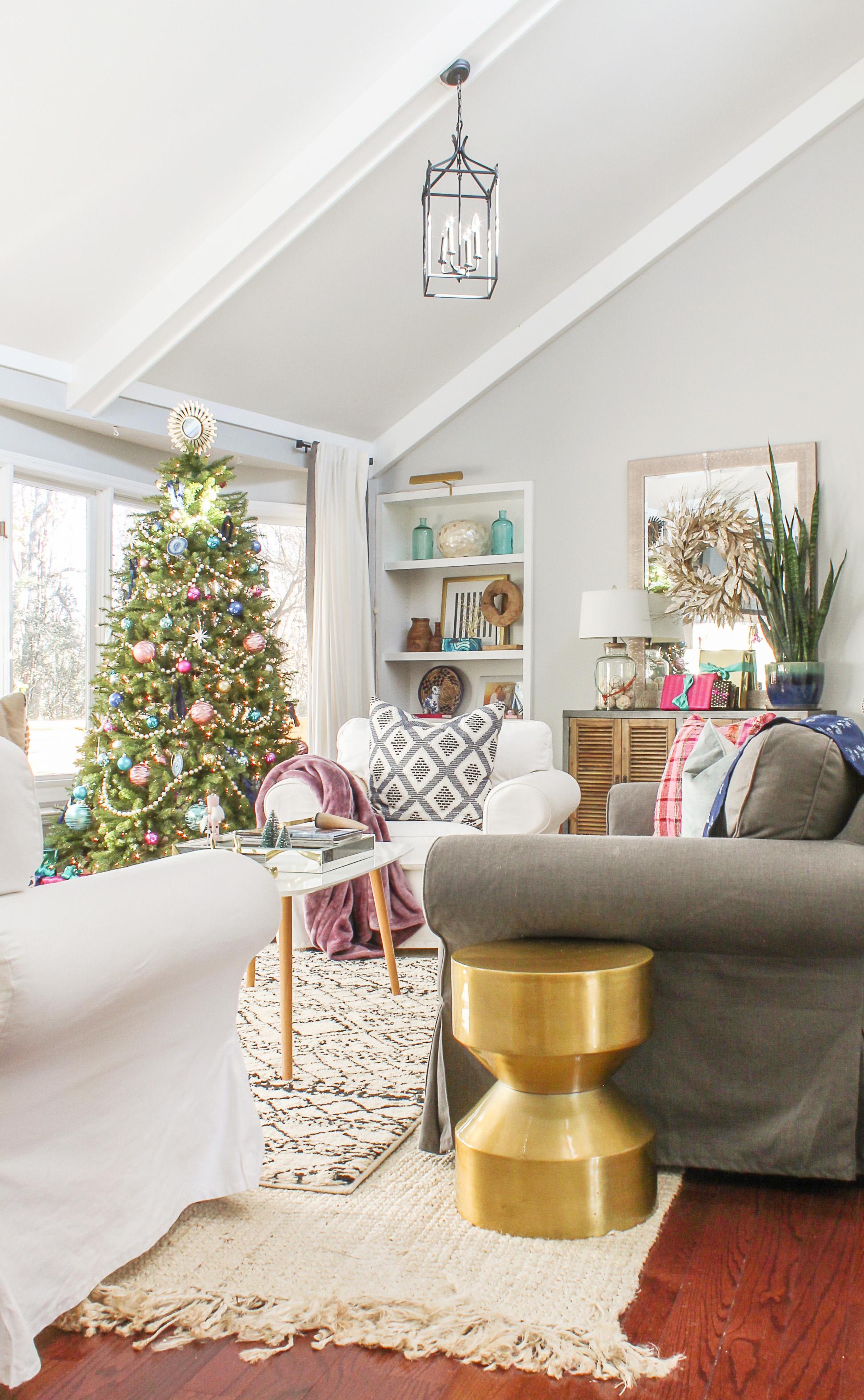 Boho chic christmas home tour 2017 part 1 modern for Boho chic home design