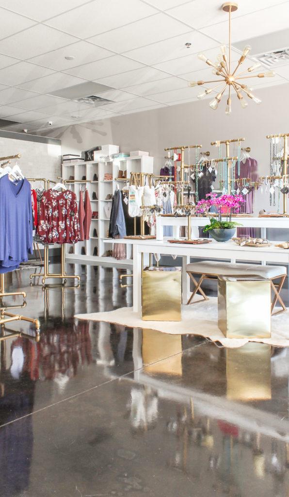modern glam boutique ideas