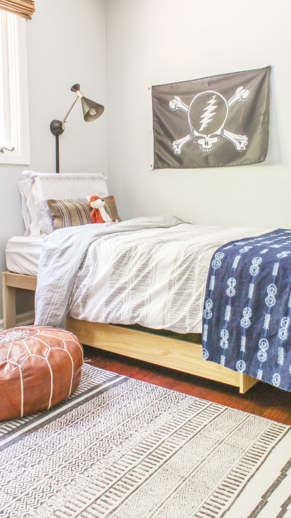 boy's modern boho room reveal