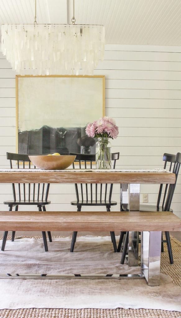 modern coastal farmhouse dining room decor ideas