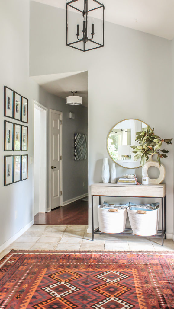 Modern Farmhouse Interior Design: Modern Farmhouse Meets Boho Foyer Makeover