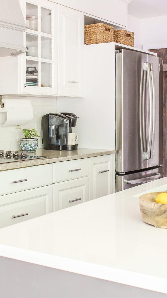 DIY cabinets around counter depth fridge