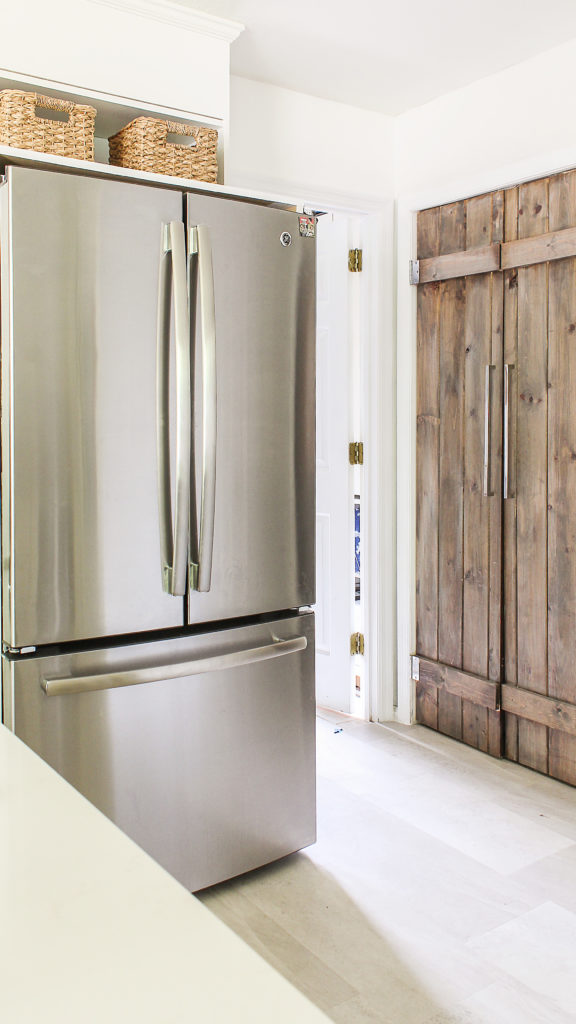 DIY refrigerator framing cabinetry for under $40